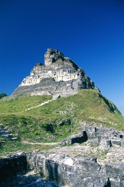 Xunantunich, Belize.  My friends and I actually ran down from the top of this temple in order to ask the governor general of Belize to pose for a photo with us.