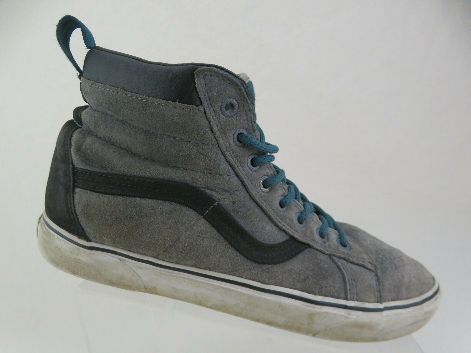 VANS Sk8Hi Suede Grey Sz 105 Men HighTop Skateboarding Shoes 3149
