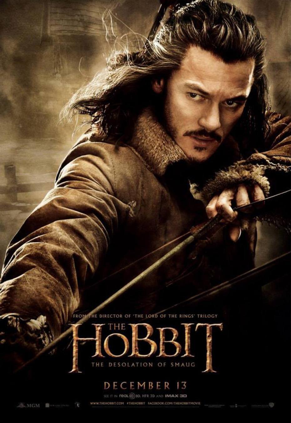Luke Evans Interpreta A Bardo Arquero Governador De La Ciudad El Valle La Desolación De Smaug Hobbit El Señor De Los Anillos