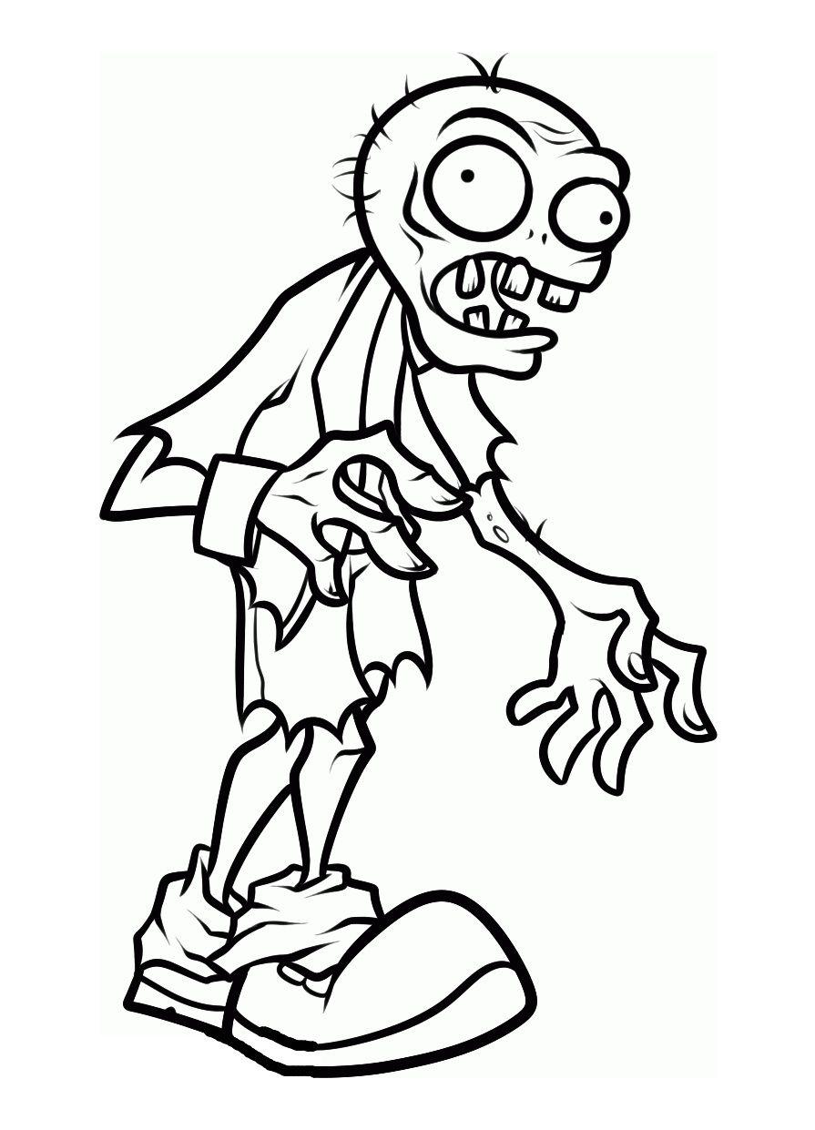 Zombie Coloriage 14 Petite Zombie Coloriage Images Un