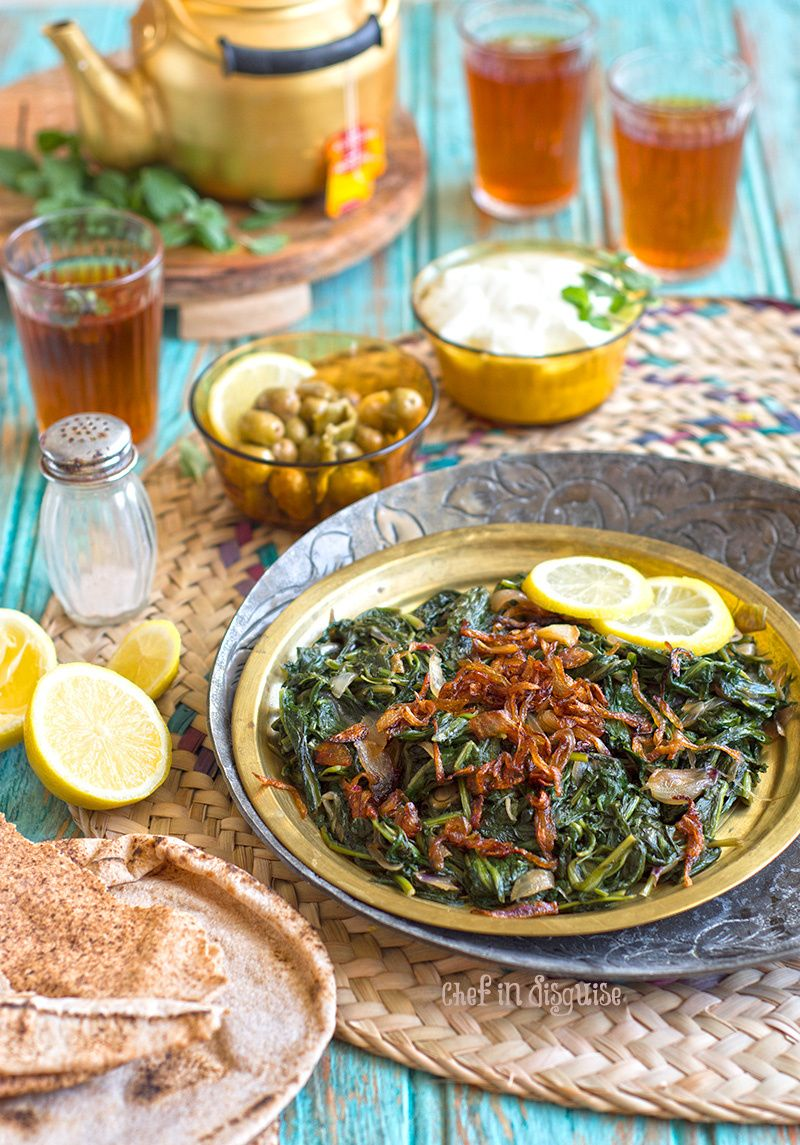Hindbeh sauteed dandelion greens middle eastern