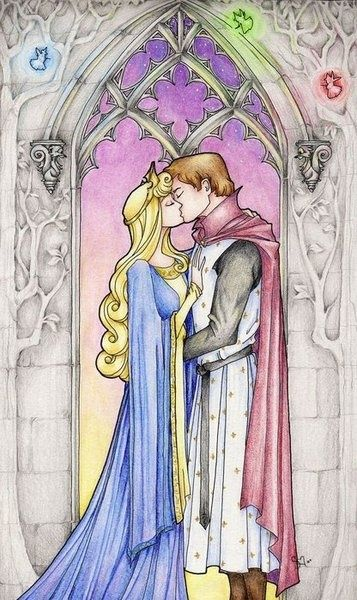 The book the claiming of sleeping beauty ruined this image for me. Princess Aurora & Prince Phillip