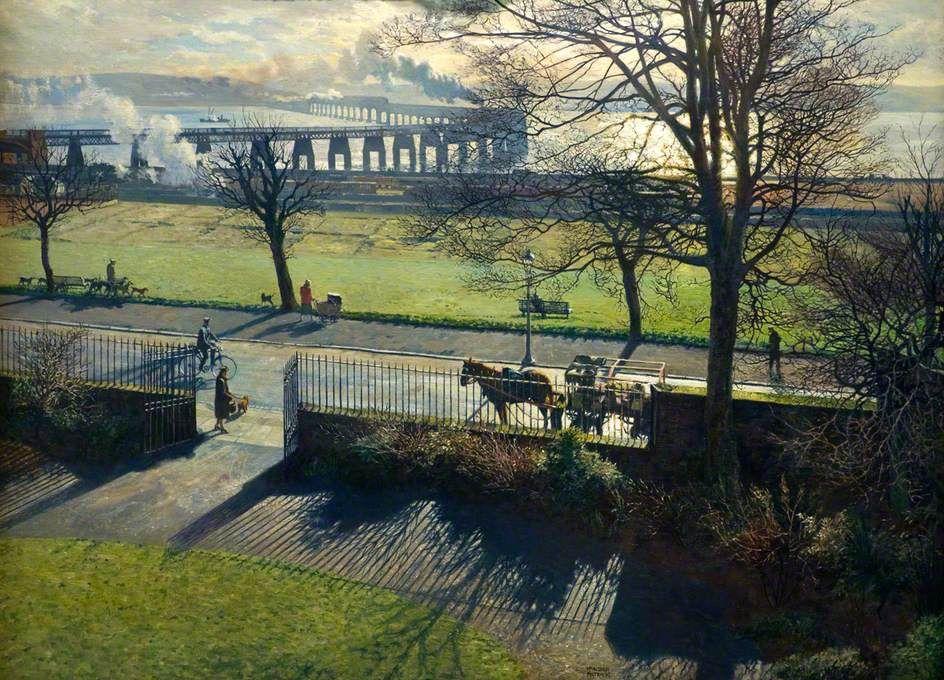 The Tay Bridge from My Studio Window, by James Mackintosh ...