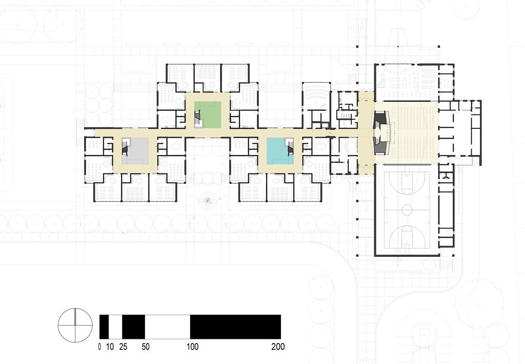 Elementary school building design plans designshare - College of design construction and planning ...