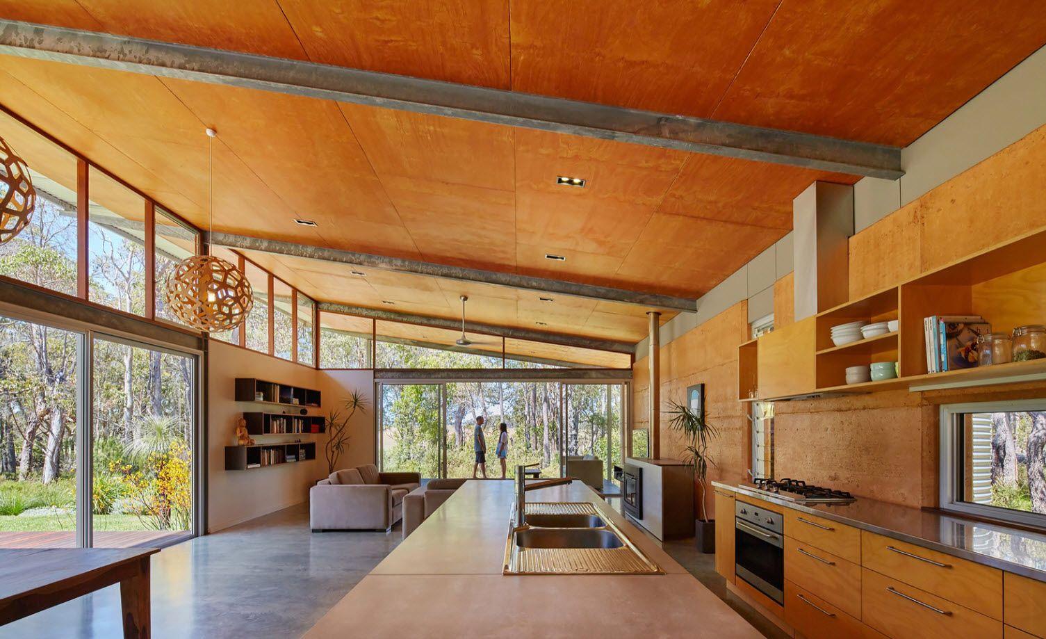 Diseño de casa rural ecológica, preparada para abastecerse