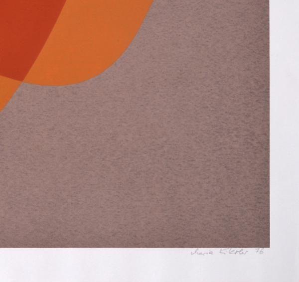"""MARIA KIKOLER - """"Tema VII"""" - 110 permuta I serigrafia em cores sobre papel medida da chapa 48 x 45 cm. Medida total 54 x 51 cm. Tiragem 18/40. Assinada e datada no canto inferior direito, 1976. Sem moldura."""