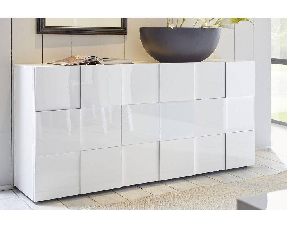 Buffet Design Laque Blanc 180cm Kube Miliboo Buffet Design Mobilier De Salon Meuble Rangement