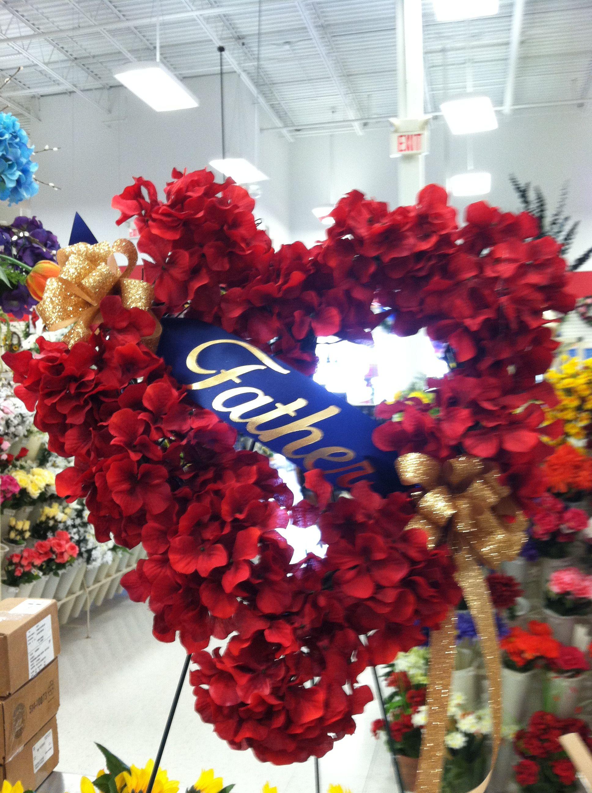 Fatherus day heart wreath holidaysmothersfathers day pinterest