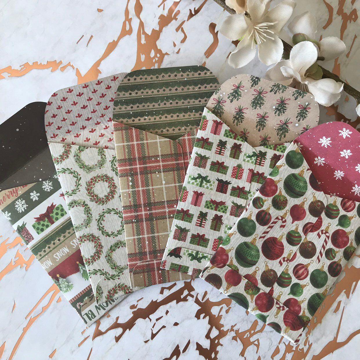 Christmas gift card envelope christmas gift card holder