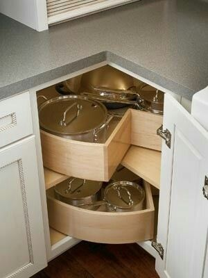 Lazy Susan Pie Turners For Pots And Lids Storage Corner Kitchen Cabinet Best Kitchen Cabinets Kitchen Cabinetry