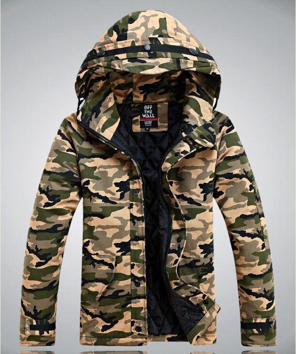 2015 men famous brand Commando winter camouflage jacket,parka Army .
