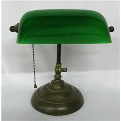Vintage Green Glass Bankers Lamp | Bankers lamp, Vintage
