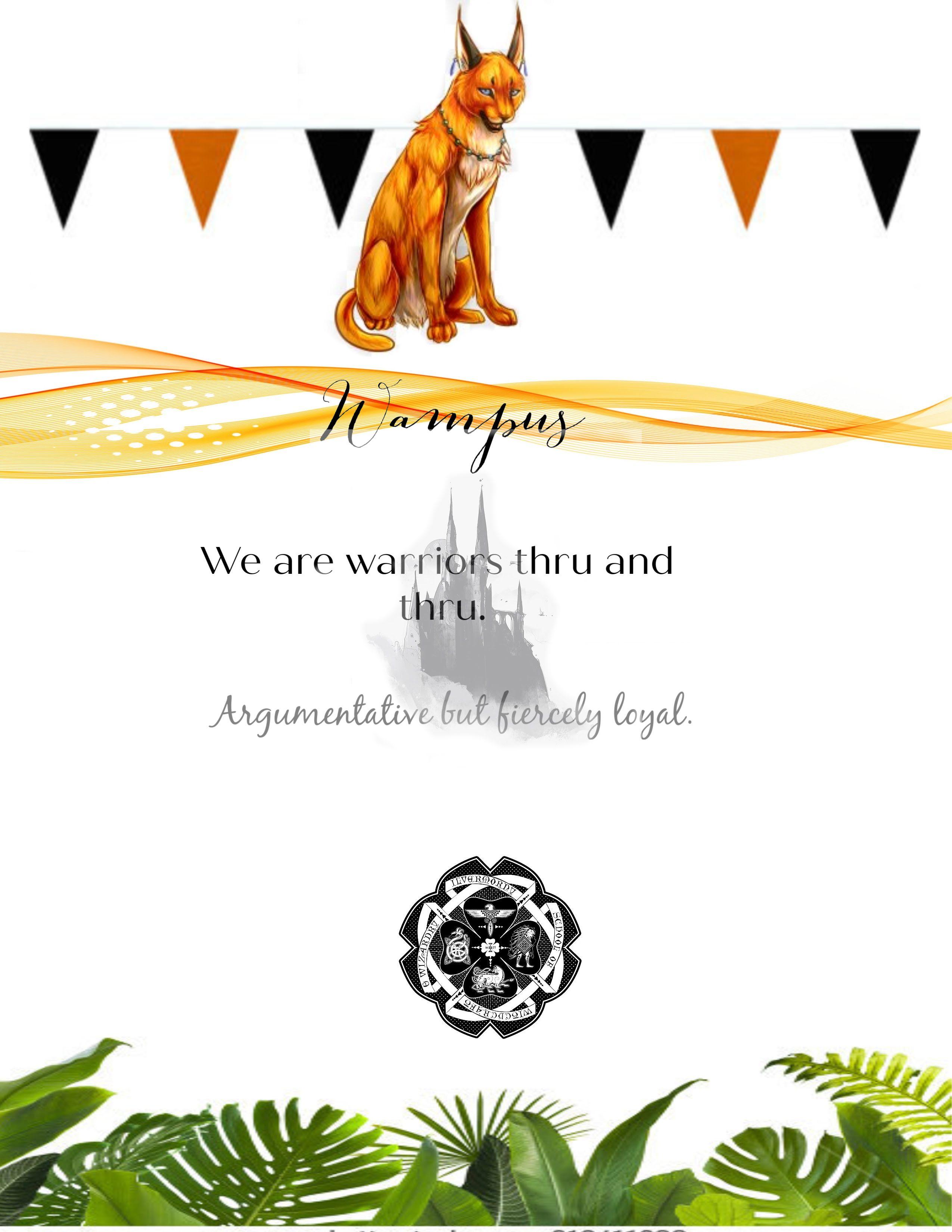 Wampus Ilvermorny American Wizarding School Pukwudgie