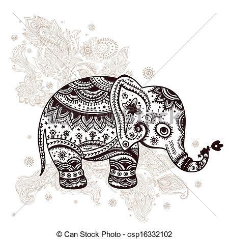 Ethnic elephant illustration  csp16332102  Drawings  Pinterest