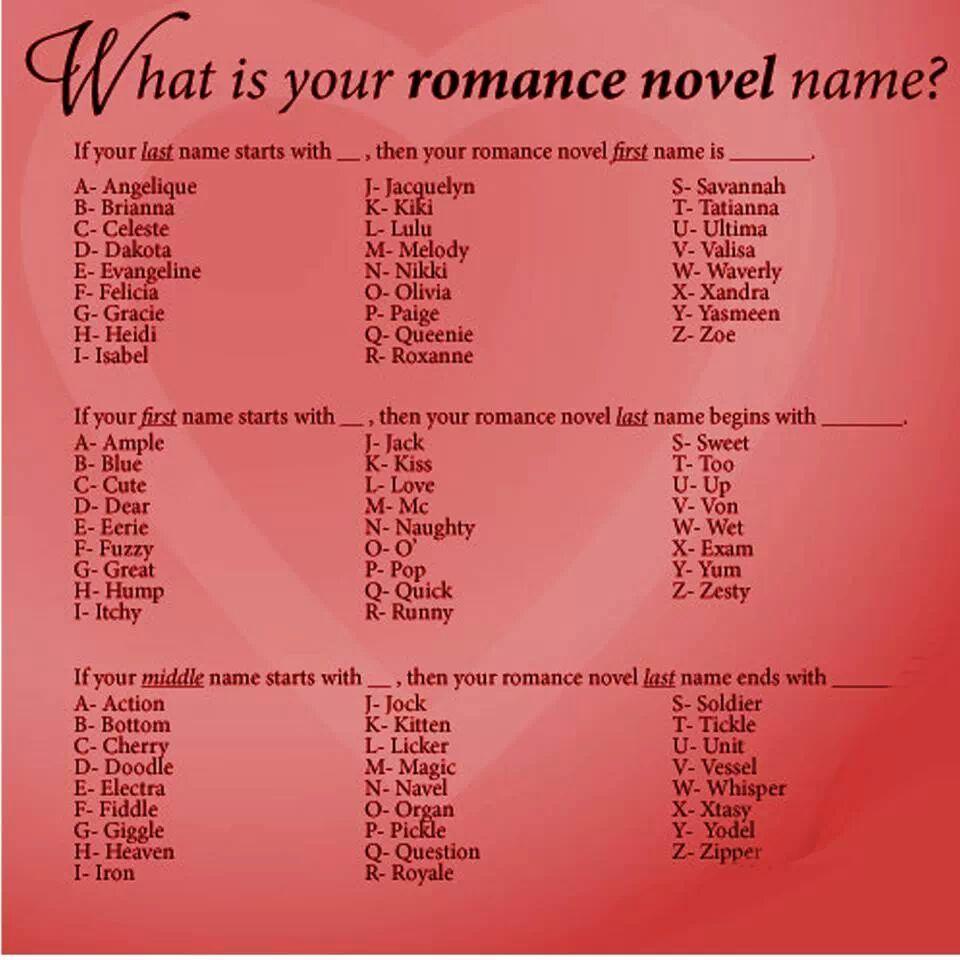 Name That Book Romance / Romance Title Generator 180 ...