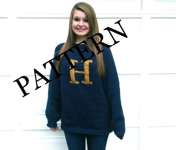 Pattern Pattern Pattern Sweater With Letter H Silly Things
