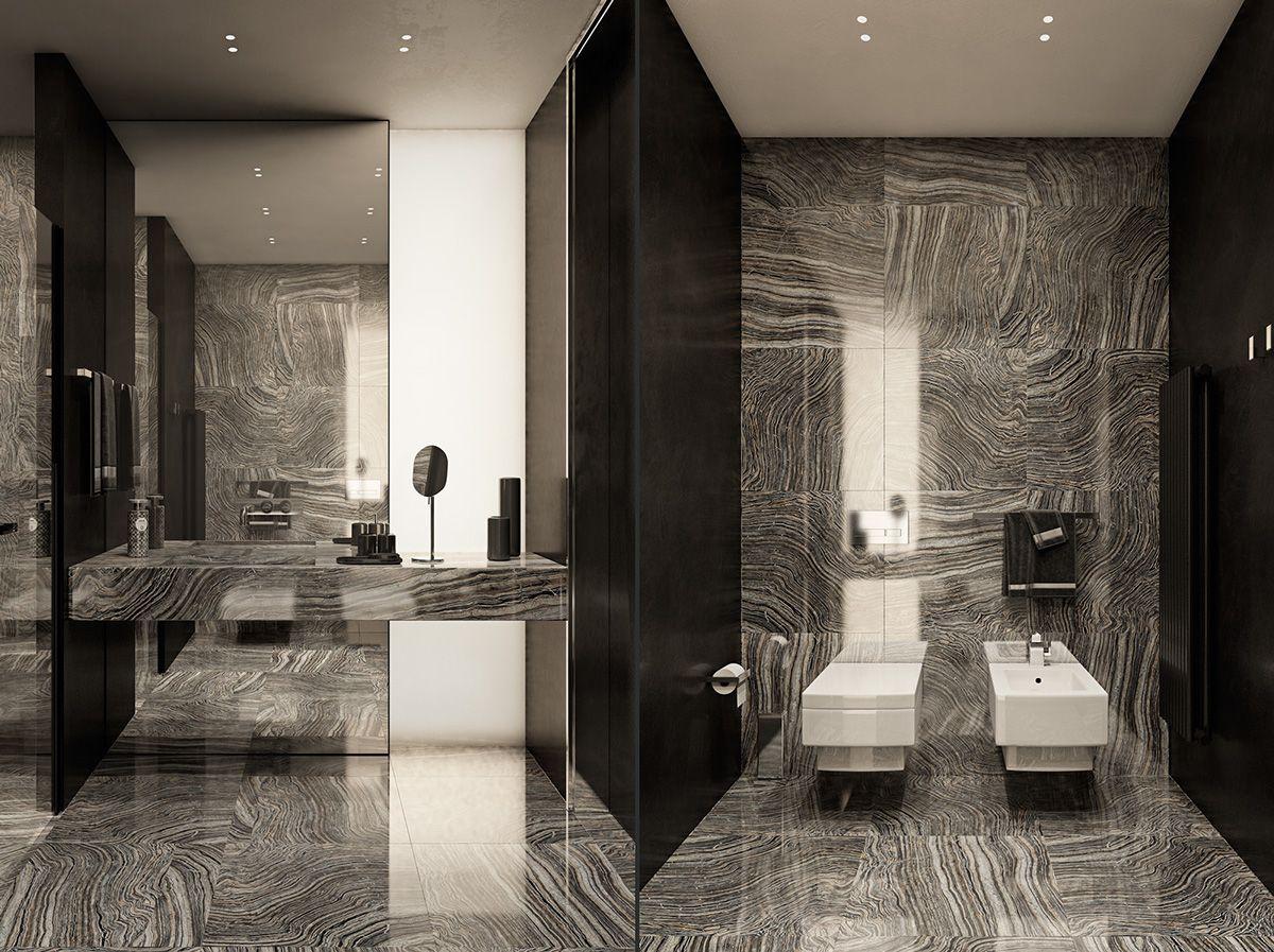 Applying modern bathroom decor with creative and perfect for Modern interior bathroom