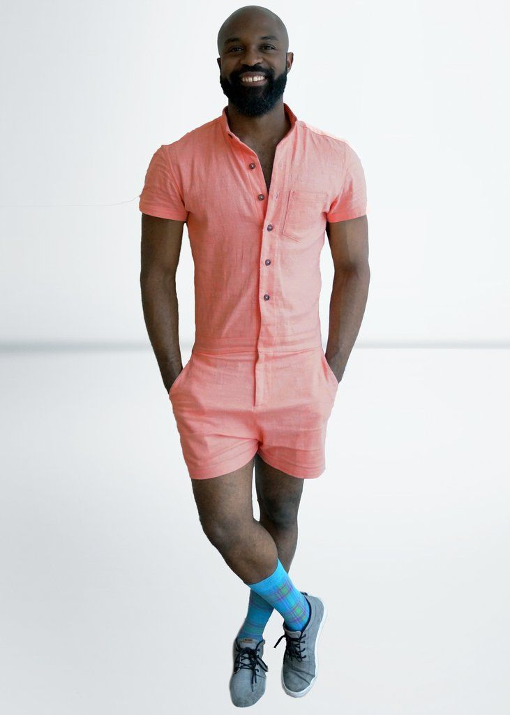 f2ac72fe481 Peach Chambray RompHim™  Special Edition