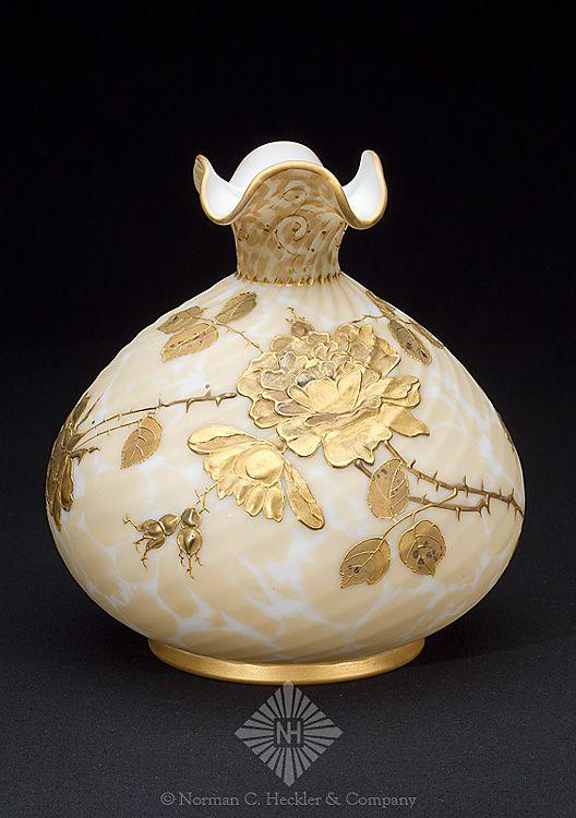 Art Glass Vase, Mt. Washington Glass Company, New Bedford, Massachusetts, 1888-1895