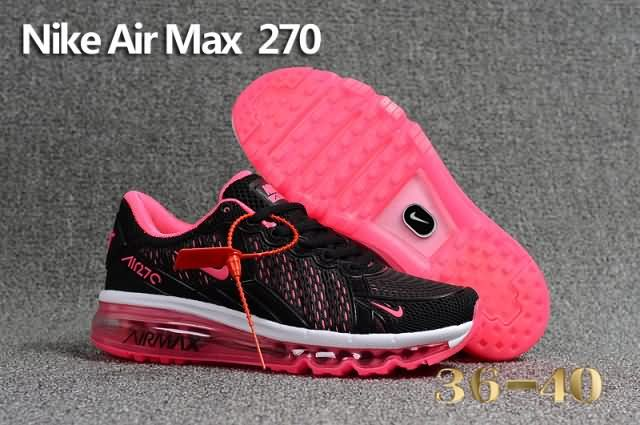 Cheap Nike Air Max 270 KPU Womens shoes Black Pink For Wholesale and