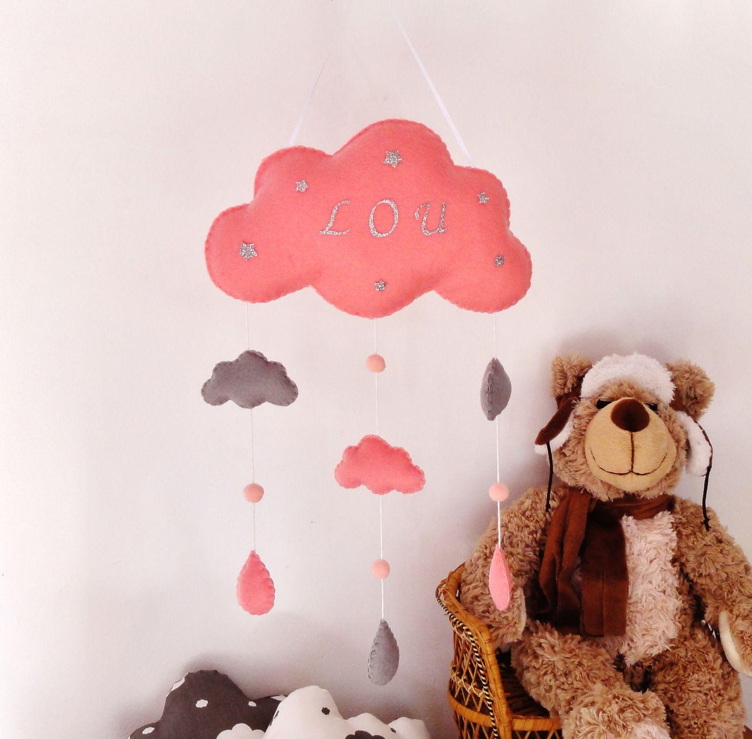 Mobile bébé nuage  personnaliser Suspension mobile nuage pour