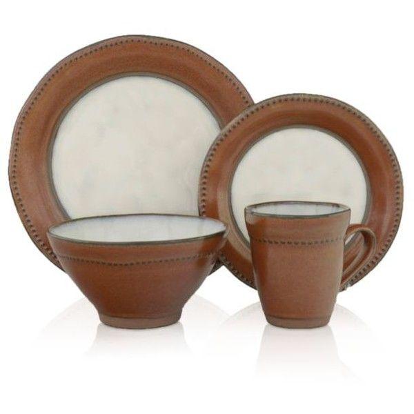 Sango Brown Centrics Sienna 16-Pc. Dinnerware Set (10.200 RUB ...
