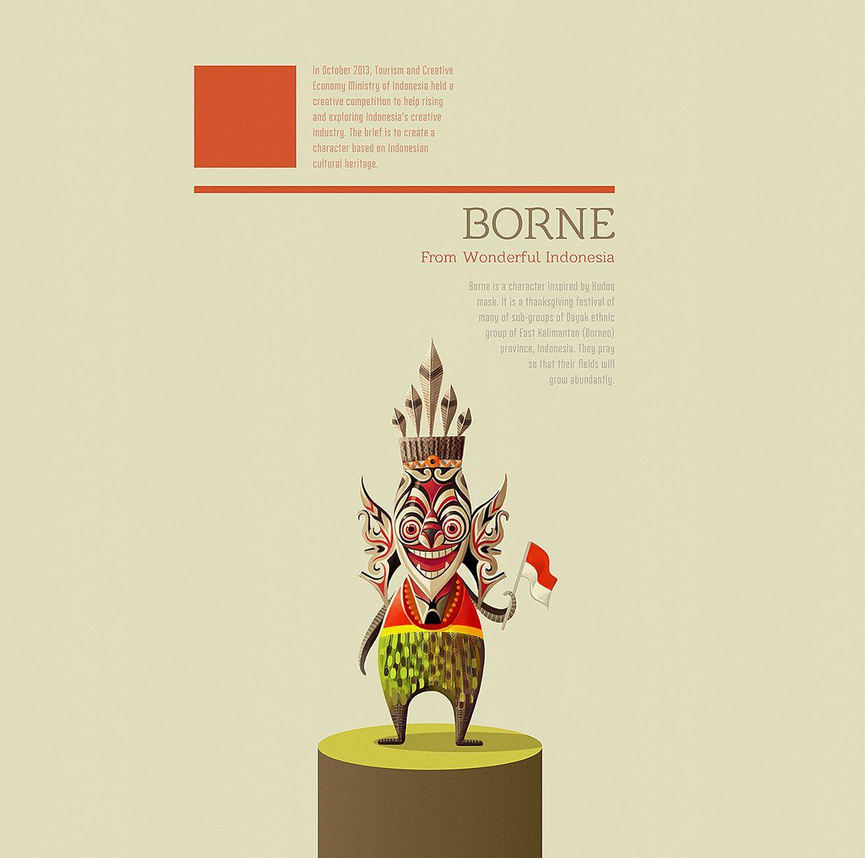 Borne Character Design For Wonderful Indonesia Character Design Bear Character Design Character Design Inspiration