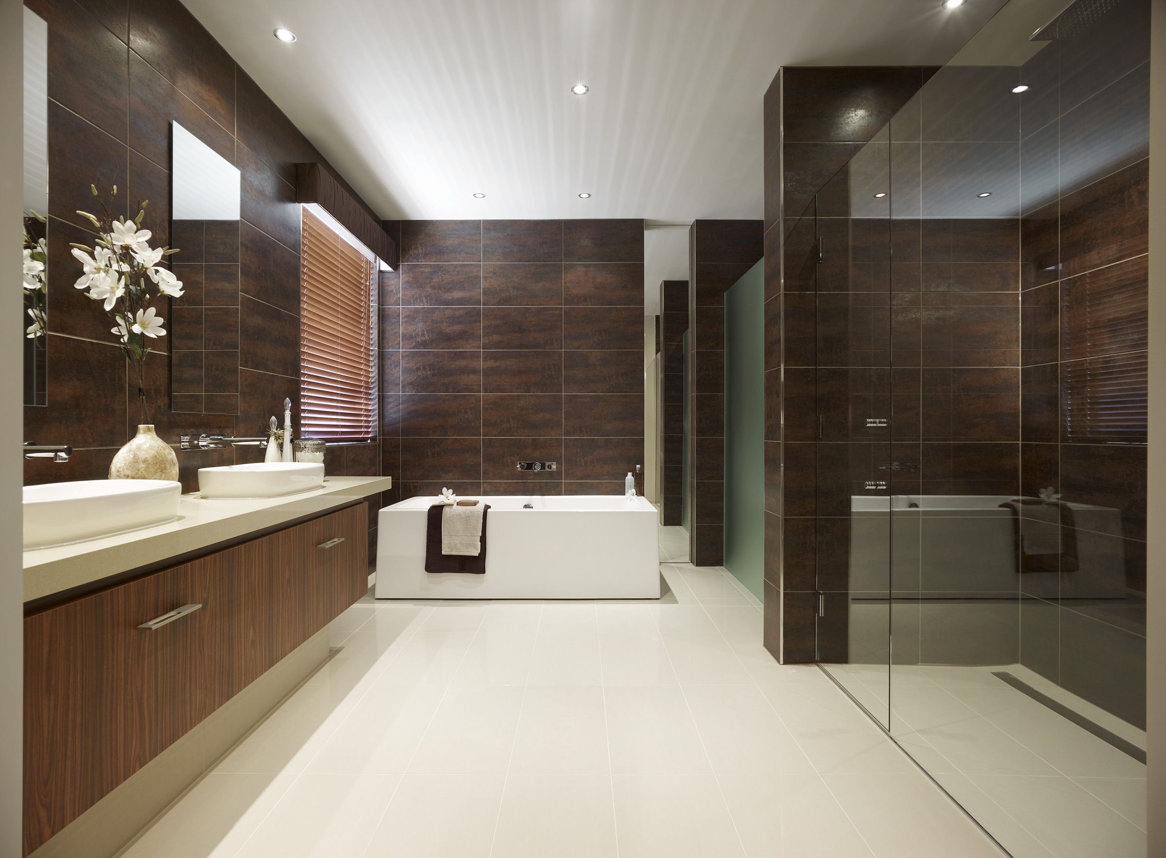 metricon bathroom with caesarstone products bathroom