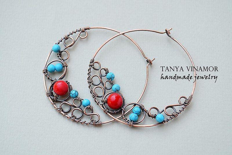 Copper earrings | by Tanya Vinamor