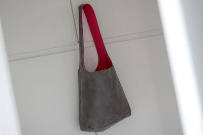 Leather Shoulder Bag #sewing