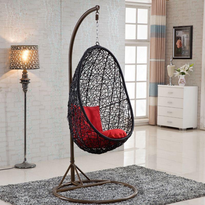 Round Rattan Bird Nest Outdoor Garden Furniture Indoor Hanging Wicker Swing Egg Chair Comfortable Living Room Chairs Chair Bar Chairs Diy