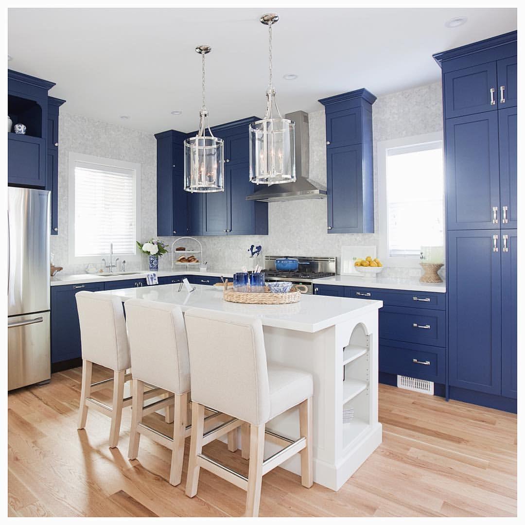 Oh My Cobalt Blue Cabinet Dream Love It Or List It  Design Stunning Kitchen Designer Vancouver 2018