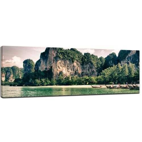 Thailand Landscape Framed Photographic Print on Canvas East Urban Home
