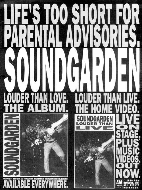 80s Soundgarden Bill Soundgarden Songs Soundtrack To My Life