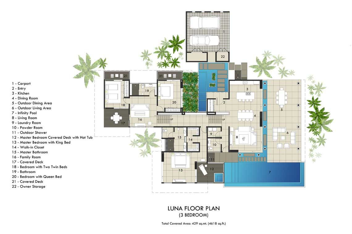 Villa house plans for Plan moderne villa