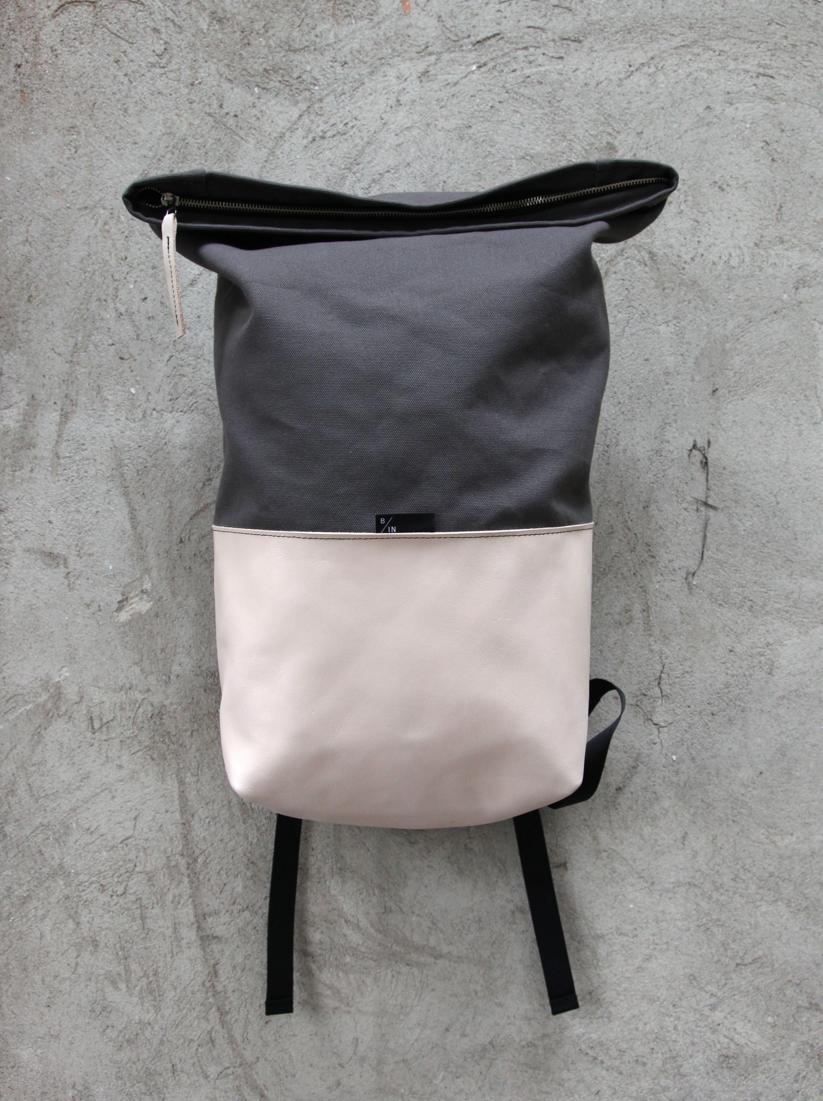 braasi industry haak 25l cotton leather backpacks. Black Bedroom Furniture Sets. Home Design Ideas