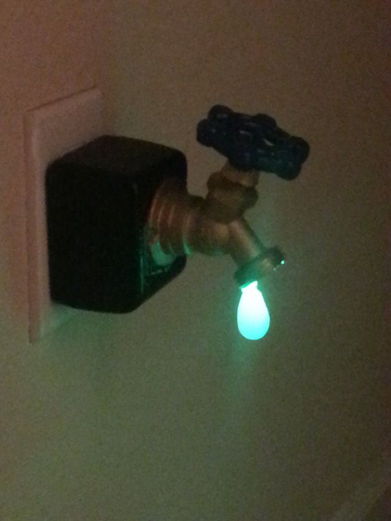 Leaky Faucet Nightlight | Leaky faucet, Faucet and Hallway flooring