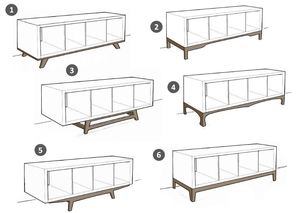 so wird dein ikea kallax regal zum angesagten midcentury. Black Bedroom Furniture Sets. Home Design Ideas