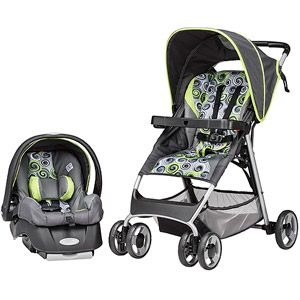 WANT Evenflo SmartFold Travel System Starry Night Through Walmart Online It Comes With A Bonus Car Seat Base