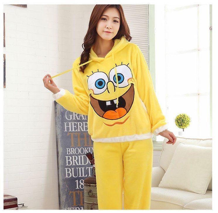 f22386f9d4 2018 Autumn Winter warm Women Fannel Thickening Pajamas Set homewear  Sleepwear  Unbranded  Sleepshirt