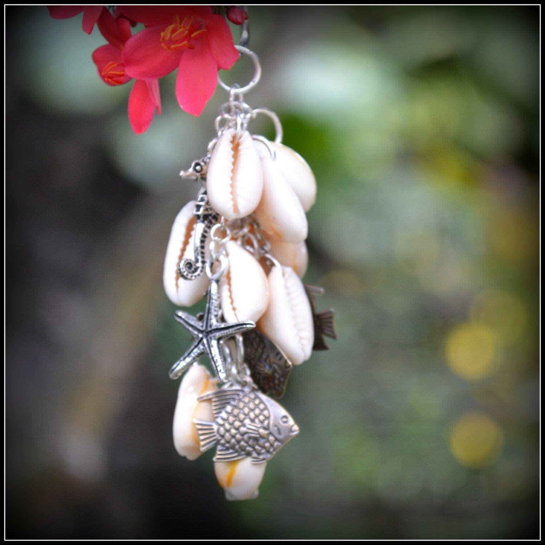 Purse Charm  Dream  Starfish  Seahorse  Shell Bag by SasakiBags, $15.00