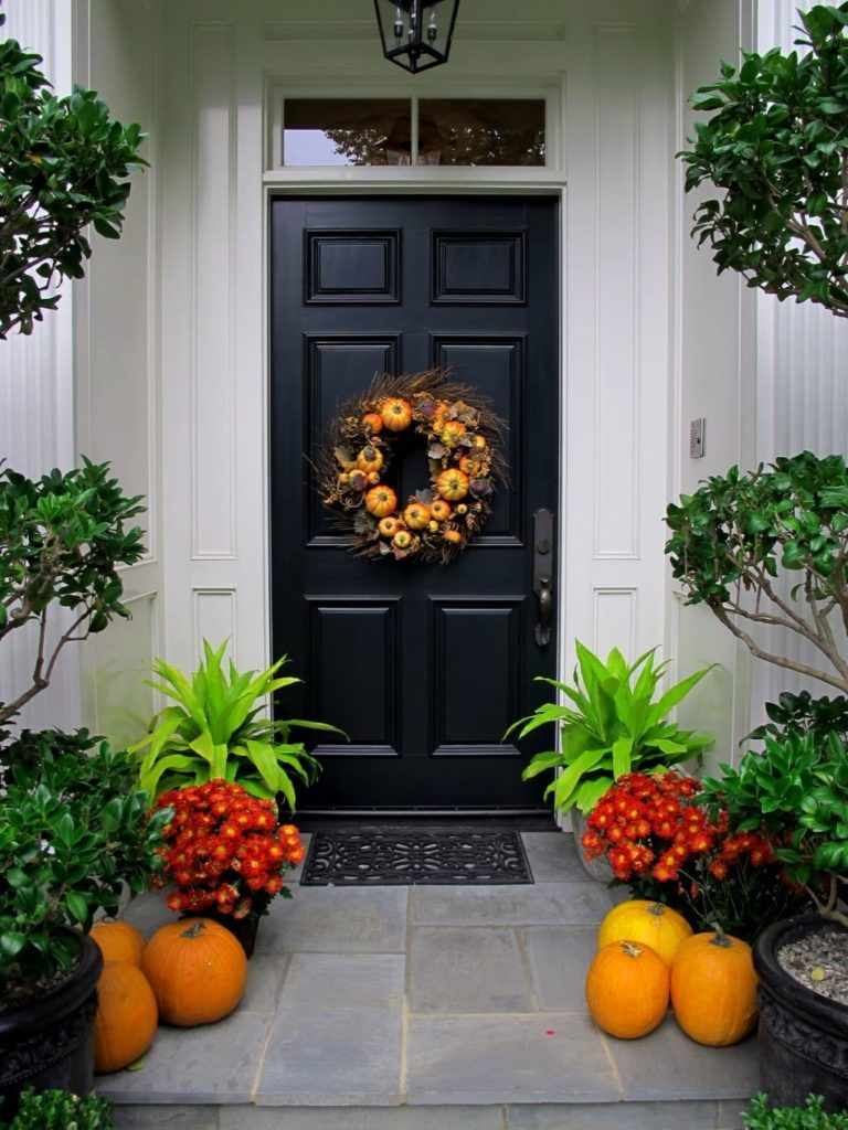 Modern Front Door Ideas Home Pinterest Front doors, Front door - Halloween Door Decorations