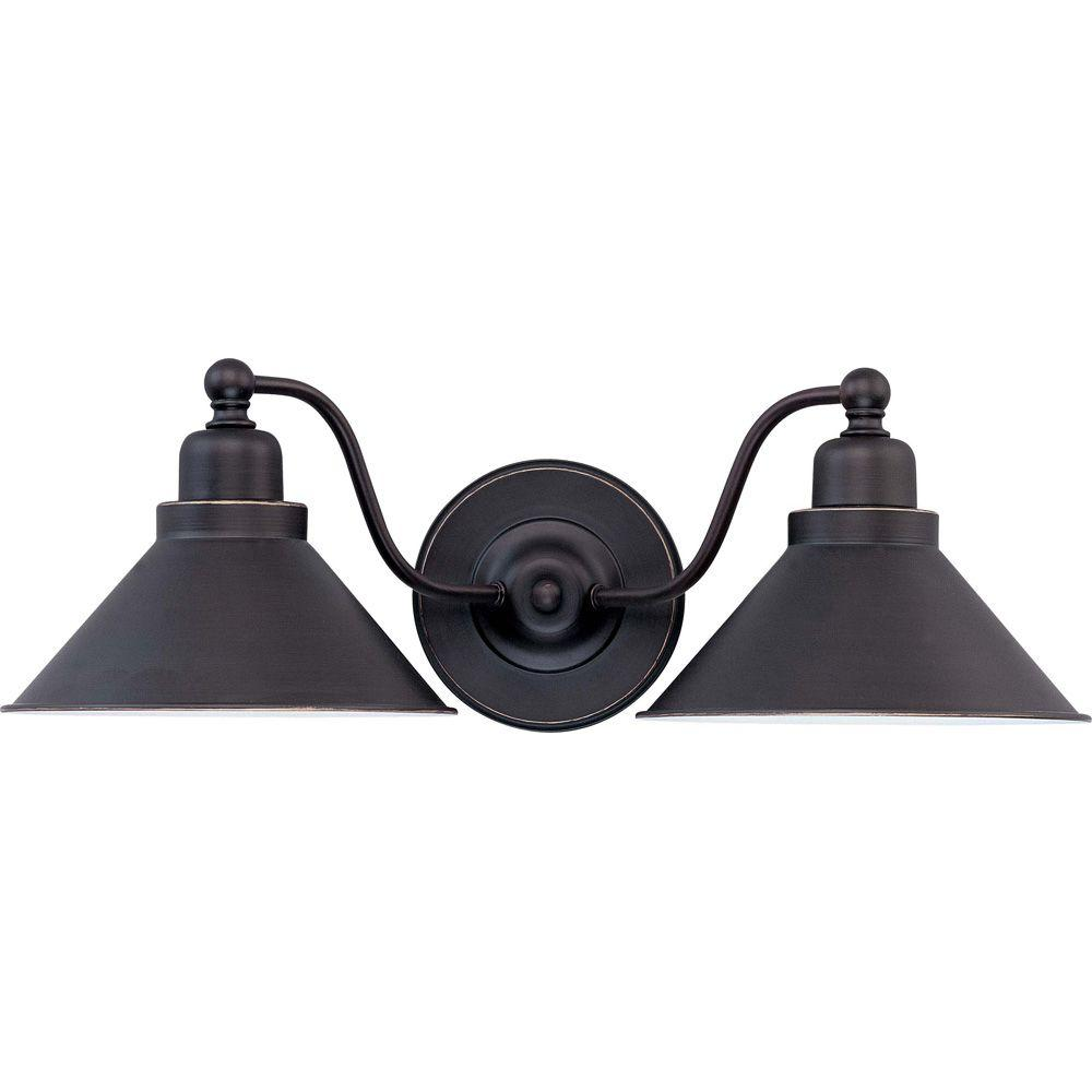 Glomar Bridgeview Light Wall Sconce Mission Dust BronzeHD - 2 light bathroom wall sconce