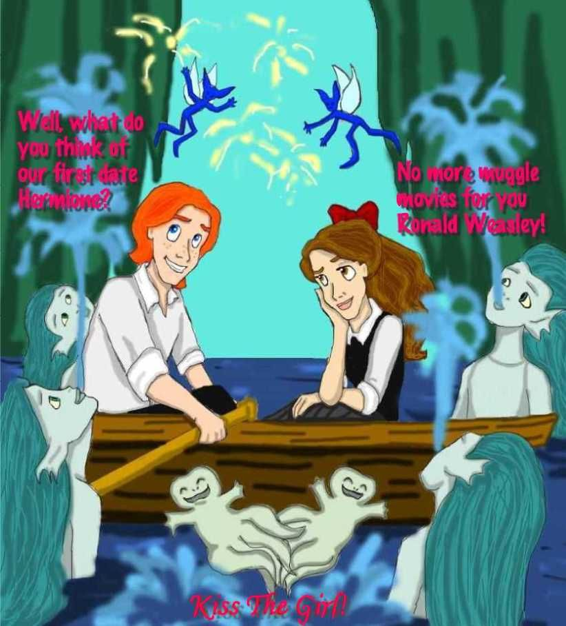 Ron Hermione, Harry Potter, Disney, The Little Mermaid | The