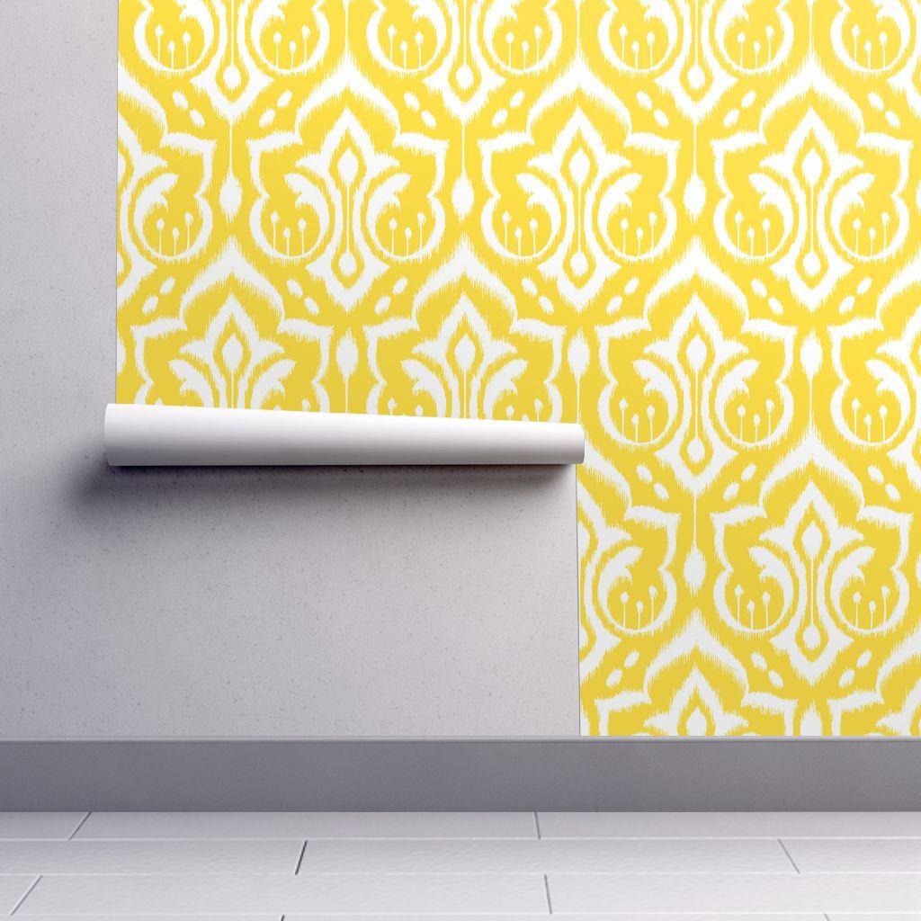 Sunshine Damask - Nursery Yellow wallpaper - pattysloniger ...