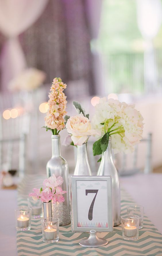 Centros de mesa para bodas en verano las ideas m s top - Centros de mesa con botellas ...