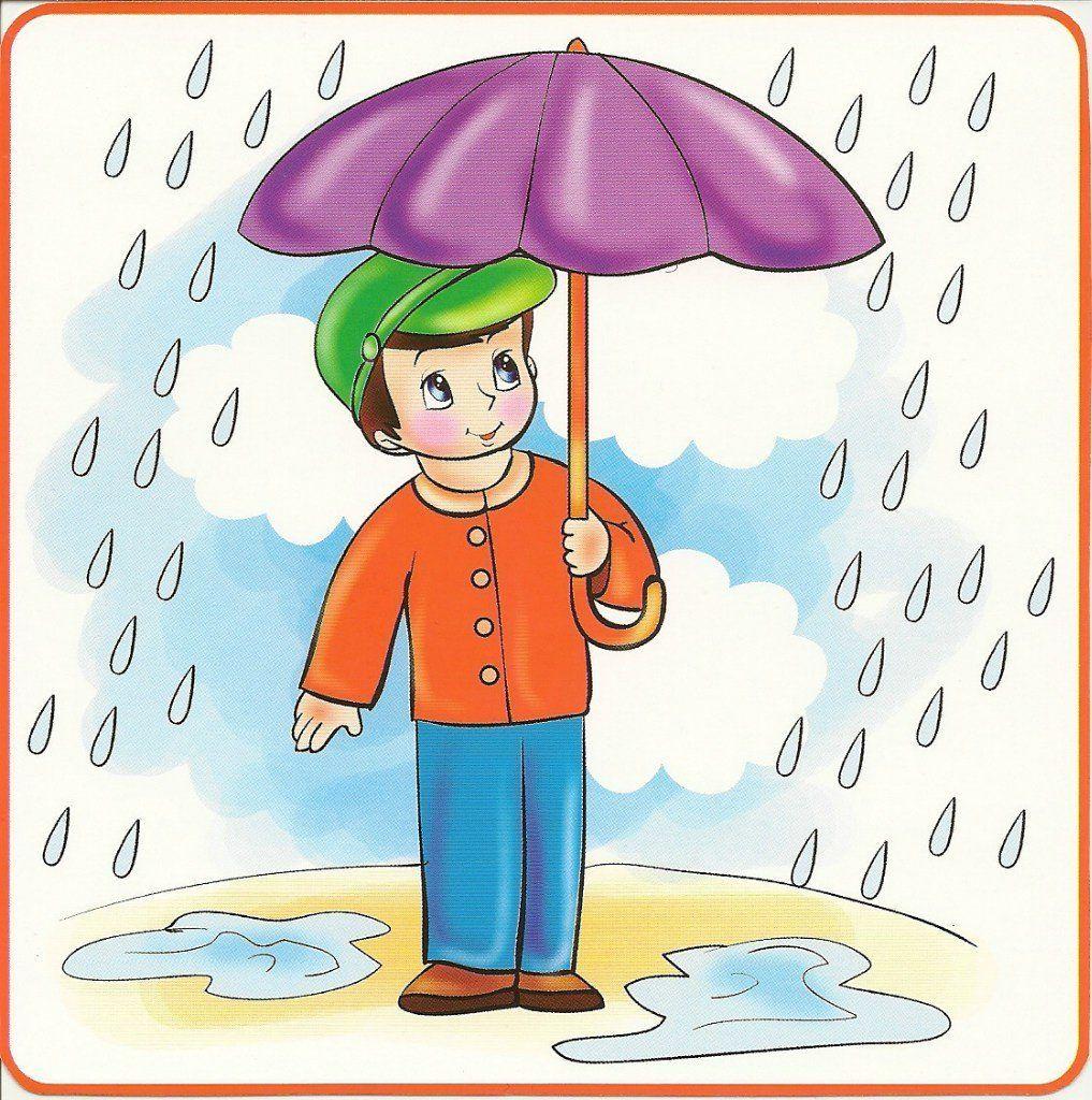 Картинка дети под дождем для детей