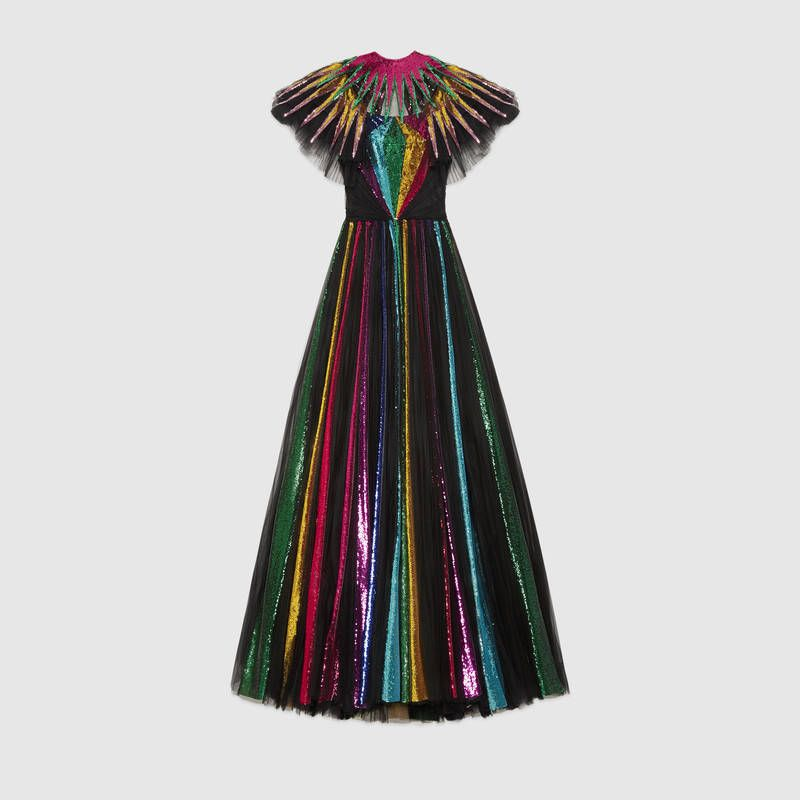 117a6bc3a GUCCI i Embroidered sequin tulle gown, $29,000 | WEARABLES in 2019 ...