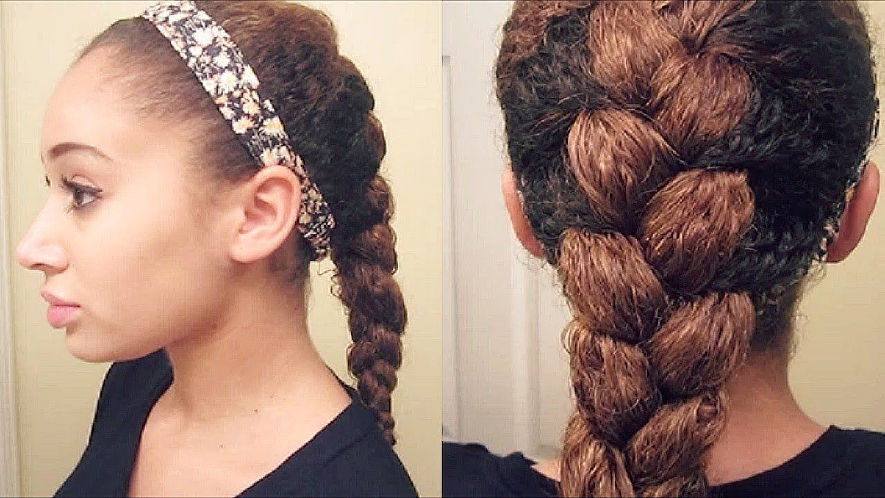 How To French Braid Curly Hair Curled Hair With Braid Braided Hairstyles Latest Braided Hairstyles