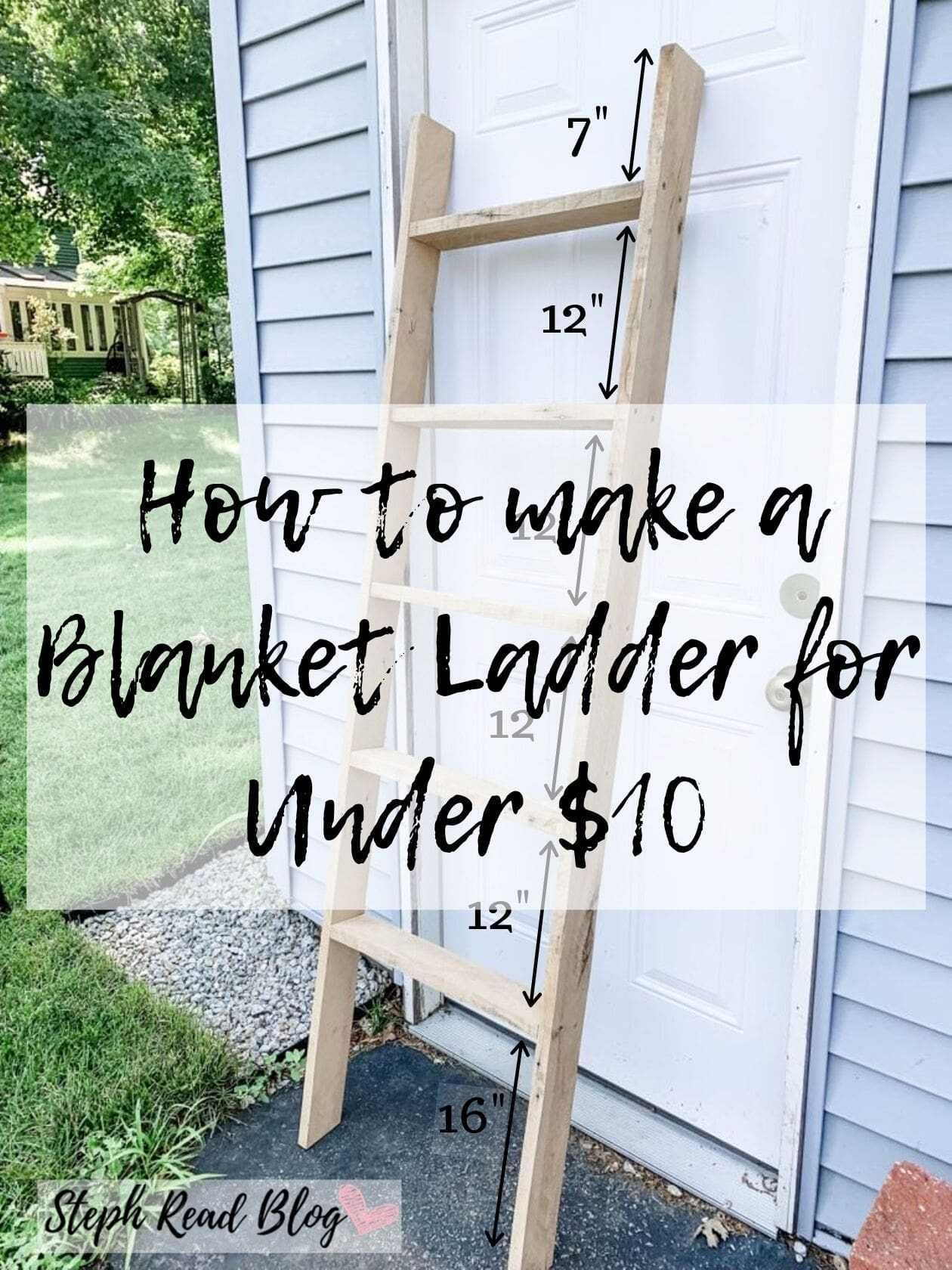 Photo of How to make a pallet blanket ladder for under $10 – Steph Read Blog